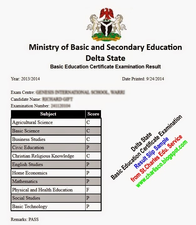 How To Check Delta State Bece Result Online Junior Waec border=