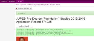 uniben jupeb foundation result