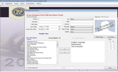 waec offline registration register candidate