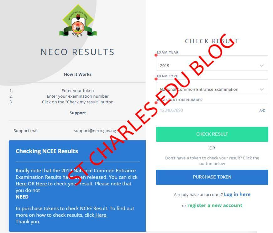 How To Check NECO NCEE Result National Common Entrance