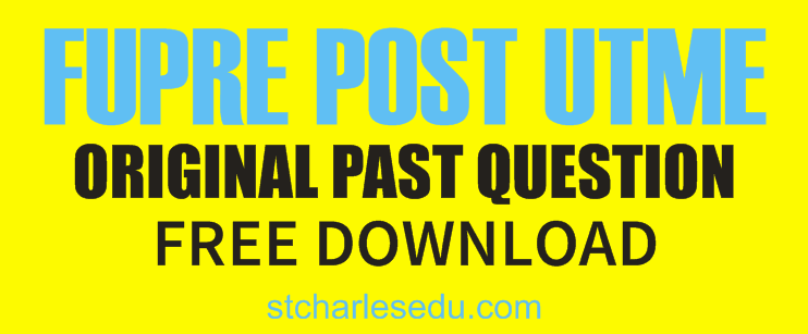 fupre post utme past questions pdf download free
