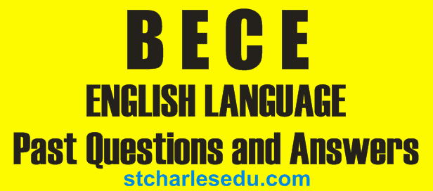 bece english past questions answers