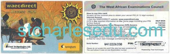 How Does a WAEC Scratch Card Look Like