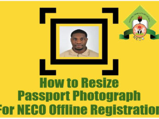 How to Reduce Passport for NECO Registration