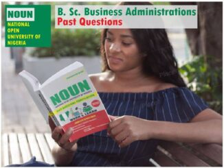 Business Administration NOUN Past Questions Paper Download