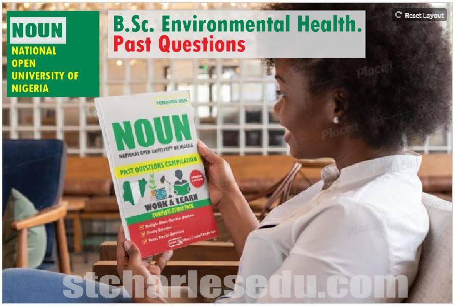 Environmental Health NOUN Past Questions Paper Download
