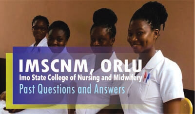 Imo State College of Nursing Past Questions