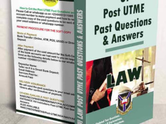 UI Law Post UTME Past Question