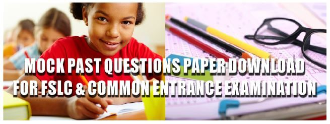 Mock Common Entrance questions for Primary Six,